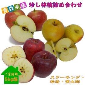 【5kg】青森県産 珍しい林檎3品種 詰め合わせ