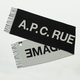 【A.P.C】マフラー ANGELE SCARF ブラック
