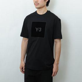 Lサイズ【Y-3】Tシャツ U SQUARE LOGO  SS TEE ブラック   風合い豊かなスクエアロゴがアクセントを添える半袖Tシャツ!