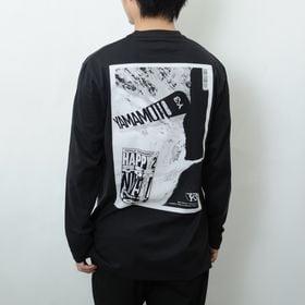 Sサイズ【Y-3】Tシャツ U CH2 ZINE PAGE-2 LS TEE ブラック   ストリート感溢れるグラフィックがコーディネイトの主役にぴったり!