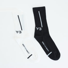 Mサイズ【Y-3】靴下 2PP CREW SOCKS ブラッ...