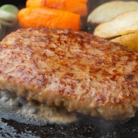 【計10個/計2kg】食べ応えばつぐん!! ビッグハンバーグ