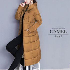 【キャメルM】中綿ロングコート