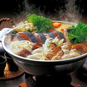 [豊洲市場海鮮鍋セット]石狩(鮭)海鮮寄せ鍋セット 冷凍便