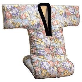 【ブルー系】裏フリース かいまき布団 衿カバー付き