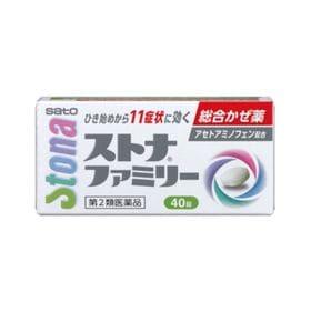 【第2類医薬品】ストナファミリー 40錠 かぜ 解熱 鎮痛 ...