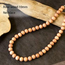 木 ネックレス 10mm ローズウッド 数珠 ネックレス
