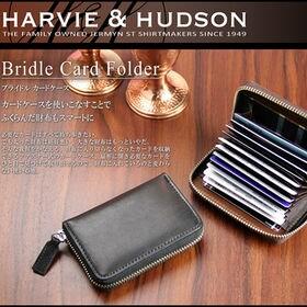 ハンドメイド カードケース【ラウンドファスナー式 メンズ ブ...