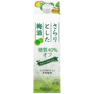 チョーヤ さらりとした梅酒糖質40%オフ 1L×6本