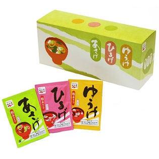 [3箱]永谷園 あさげ・ひるげ・ゆうげ 粉末おみそ汁アソートボックス 30袋(278.8g)