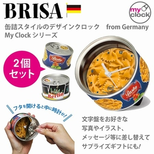 BRISA MyClock 缶詰クロック パスタ&ベルリン 2個セット