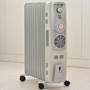 急速暖房ファン付き10枚フィンオイルヒーター