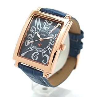 【24超得】ミッシェルジョルダン(MICHEL JURDAIN)/天然ダイヤ レザーベルト メンズ腕時計/SG-3000-8PG