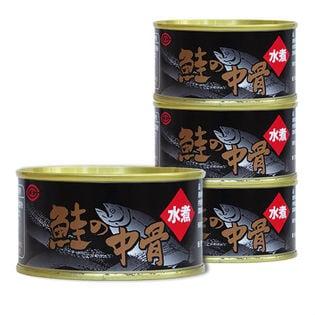 <女川産銀鮭使用>鮭の中骨水煮缶詰 180g×6缶(a13213)