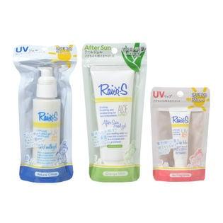 ライオス 3種計3個セット UVミルクジェル/アフタージェル/UVリップ