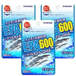 【3袋セット】maruman EPA600mg+クリルオイル・DHA 60粒
