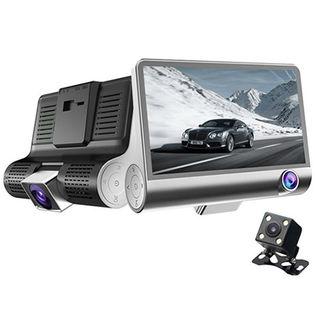 3つのカメラで360度撮影全景ドライブレコーダー