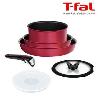 T-fal(ティファール)/インジニオ・ネオ IHルビー・エクセレンス セット6 チタン エクセレンス 6層コーティング(IH対応)取っ手のとれる T-fal/L66391