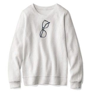 刺繍カットソープルオーバー / C20406 / オフホワイト / 4L x1Fa9