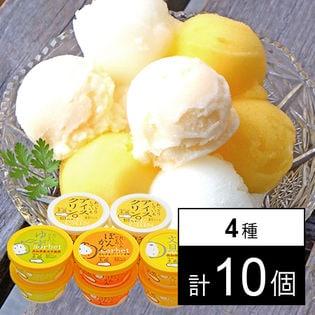 Made in 土佐のアイスクリンと柑橘シャーベットセット 4種計10個