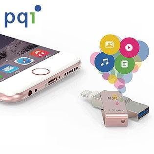 PQI/MFi認証 Lightningコネクタ搭載USBメモリ (ローズゴールド/32GB)/ICMINVPK-32