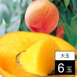 【予約受付】山梨 桃名人笠井農園の桃黄金桃 大玉6玉