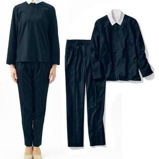 【ベルメゾン】1組2枚:パンツセットスーツ / B30423 / ブラック / 9号