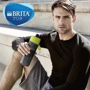 BRITA(ブリタ)/フィル&ゴー アクティブ (カートリッジ2個付) 浄水フィルター付きボトル(600ml)/ライム ※正規品