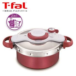 T-fal(ティファール)/クリプソ ミニット デュオ(レッド) IH対応(5.2L/3~5人用) 圧力鍋/P4605136