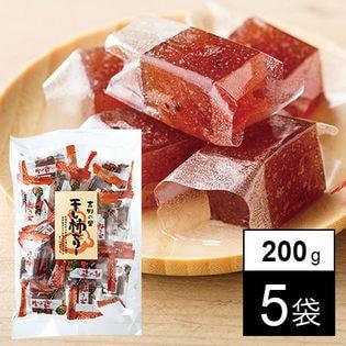 <吉野の里>無添加 干し柿ゼリー 200g×5袋(a17564)