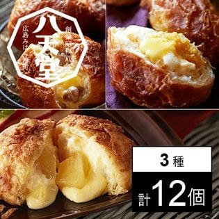 【広島】八天堂 デニッシュ食べ比べセット 3種計12個