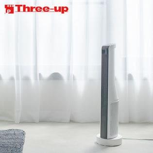 スリーアップ/温度調節機能付 スリムタワーヒーター (ホワイト)/CHT-1735WH