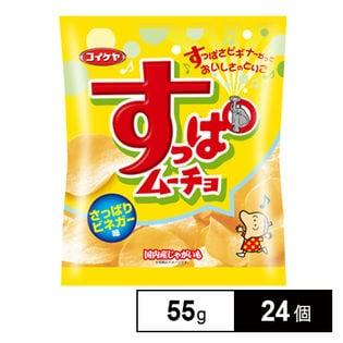 湖池屋 すっぱムーチョチップスさっぱりビネガー味 55g×24個 (12×2B)