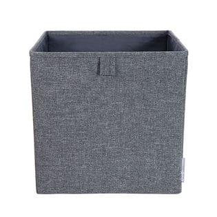 【BigsoBox】 ソフトストレージ キューブ型収納箱 グレイ