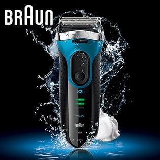 ブラウン(BRAUN)/シリーズ3 メンズ電気シェーバー(3枚刃/お風呂剃り可) ブルー/3080s-B