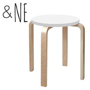 [ホワイト]&NE/ラウンドスツール 丸椅子/NEK-059-WH