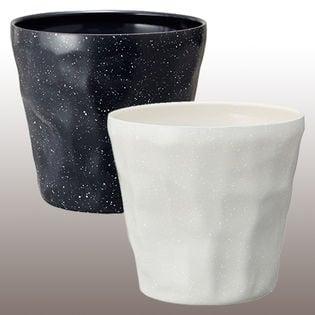 計2個/2色[300ml×2]DOSHISHA(ドウシシャ)/新飲みごろ手捻り風グラス(ホワイト&ブラック)/DSH-300WH・DSH-300BK