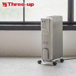 Three-up(スリーアップ)/Hidamari マイコン式 オイルヒーター (リモコン付) ホワイト/OHT-1556WH