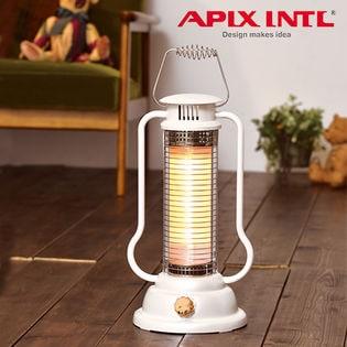 [エレガントホワイト]APIX ミニハロゲンヒーター 速暖・軽量/AMH-386 WH