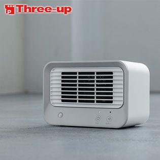 Three-up(スリーアップ)/人感センサー付 ミニセラミックヒーター (ホワイトグレー)/CH-T1832(WH)
