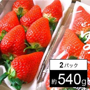 【予約受付】[約540g(2パック)]長崎県産ゆめのかいちご