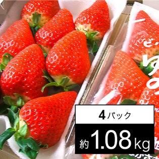 【予約受付】[約1.08kg(4パック)]長崎県産ゆめのかいちご