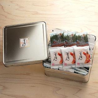 【広島土産】宮島さん 手焼きせんべい50袋 缶入り