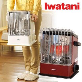 Iwatani(イワタニ)/デカ暖 カセットガスストーブ (ワインレッド)/CB-HPR-R
