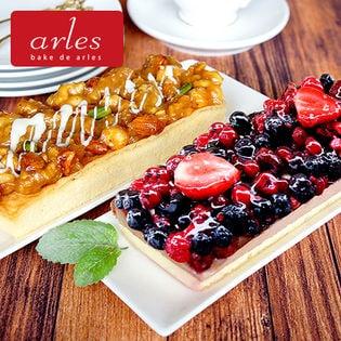 【北海道】アルルのバレンタインギフト(5種のベリー贅沢ショコラレアチーズケーキ、 5種のナッツ贅沢キャラメルケーキ)