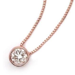 [0.15ct/K18ピンクゴールド]ダイヤモンドネックレス/DFRP015PGB