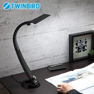 ツインバード(TWINBIRD)/LEDデスクライト Airled (ブラック)/LE-H841B