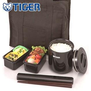タイガー/まほうびん弁当箱 (トートバッグ付き) ブラック/LWY-T036-K