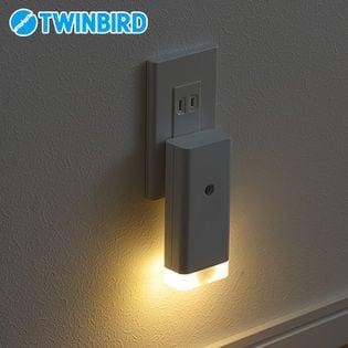 ツインバード(TWINBIRD)/停電センサー LEDサーチライト/ナイトライト付 (ホワイト)/LS-8558W