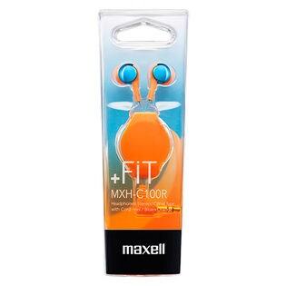 maxell(マクセル)/カナル型 イヤホン (ブルー×オレンジ)/MXH-C100RMXBO